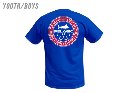 Youth Pelagic Double Hook Up Tee